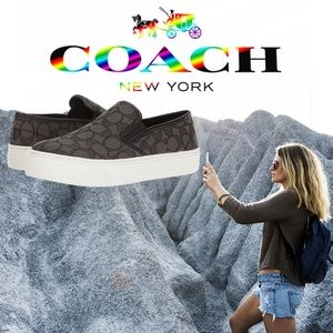 Coach Cameron Outline Women's Slip-on Loafer Shoe